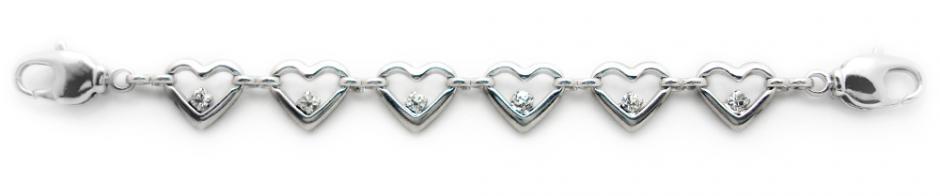 Designer Silver-Diamond Medical Bracelets Amore 1729