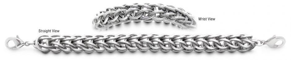 Designer Stainless Medical Bracelets Forte Anelli di Acciaio 1743