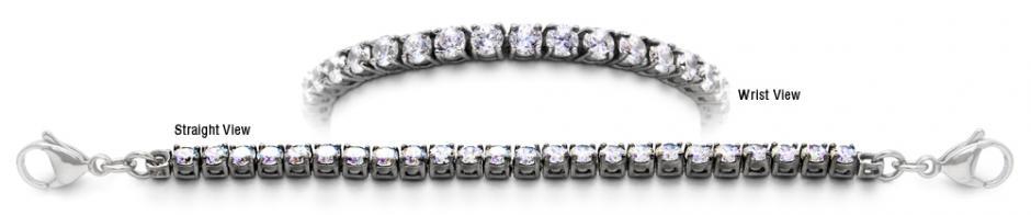 Designer Stainless Medical Tennis Bracelet Diamanti di Sophia 1746