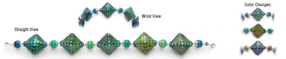 Designer Bead Medical Bracelets Good Vibrations MoodBling 1770