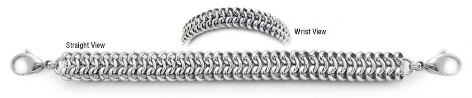 Designer Stainless Medical Bracelets Serpente 1777