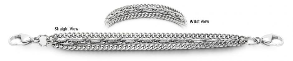 Designer Stainless Medical ID Bracelets Capelli D'argento 1782