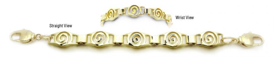 Designer Gold Medical Bracelets Bella Contessa Oro 1785