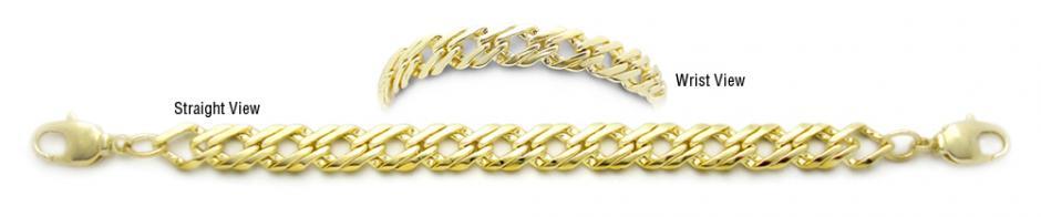 Designer Gold Medical Bracelets Metalia Oro 1787