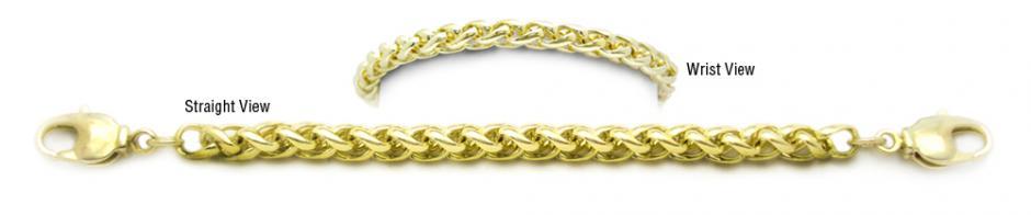 Designer Gold Medical Bracelets Bella Coda Oro 1788