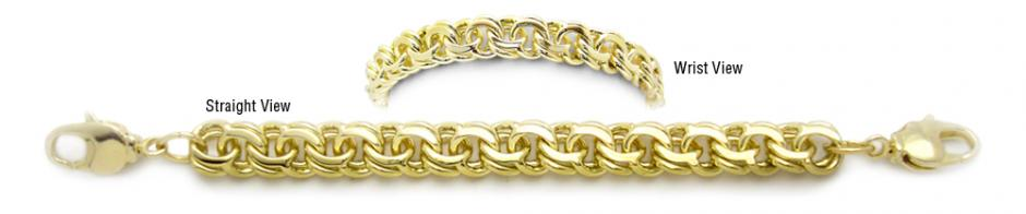 Designer Gold Medical Bracelets Mia Amore 1 Oro 1790