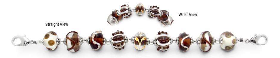 Designer Bead Medical Bracelets Funky Formations 1802
