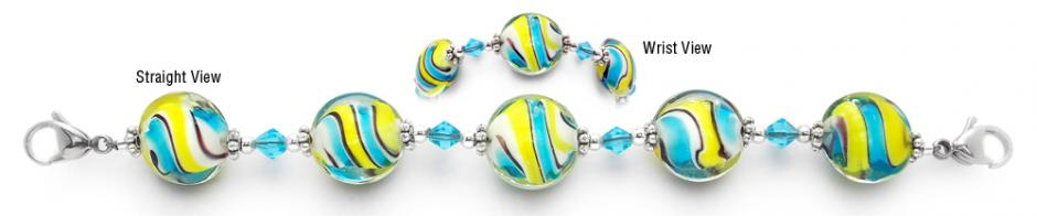 Designer Bead Medical Bracelets Tribute to Flounder 1821