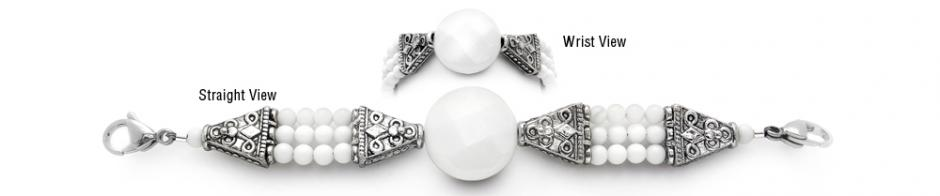 Designer Bead Medical ID Bracelet Burning White 1824