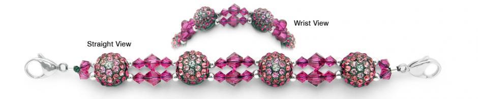 Beaded Medical Bracelets Delightful Domes-Violet 1878