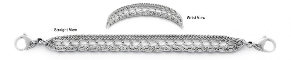 Designer Stainless Medical Bracelets Importanza Delicato 1897