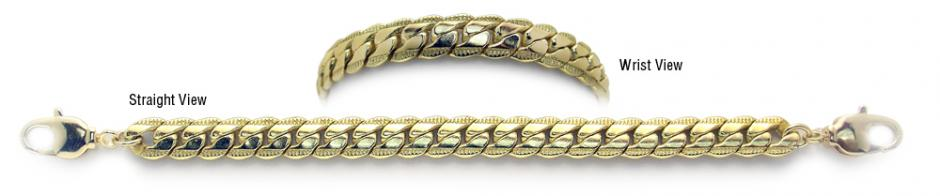 Designer Gold Medical Bracelets Prizzi Oro 1899