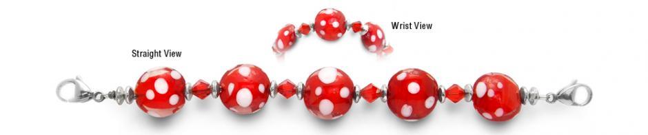 Designer Bead Medical Bracelets Red, Red and More Red 1910