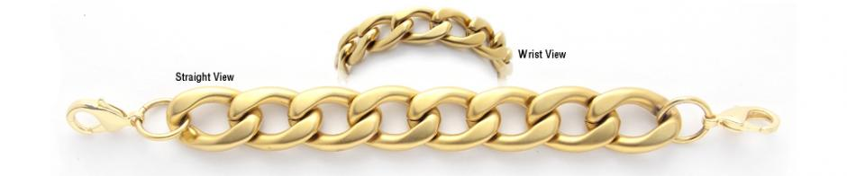 Gold Over Stainless Medical Bracelets Una Breve Corsa 1911