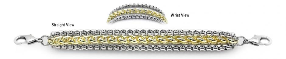 Designer Gold-Silver Medical Bracelets One Snowy Aspen 1923