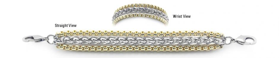 Designer Gold-Silver Medical Bracelets Two Snowy Aspen 1924