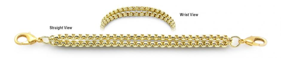 Designer Gold Medical Bracelets Fall in the Snow 1926