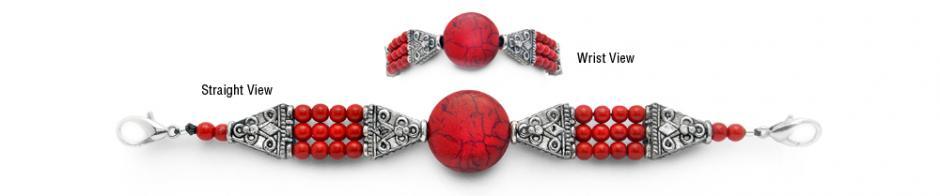 Designer Bead Medical Bracelets Red River 1931