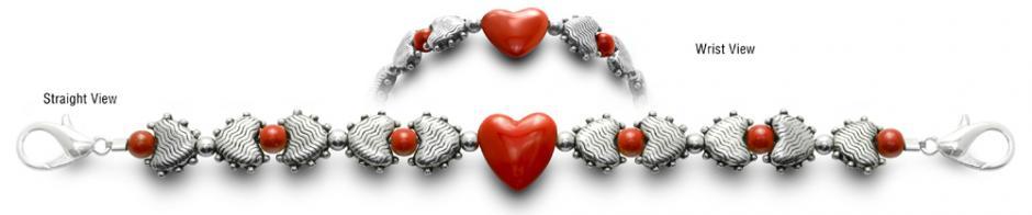Designer Bead Medical Bracelets Heart Proof 1935