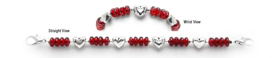 Designer Bead Medical Bracelets Winter Hearts 1936