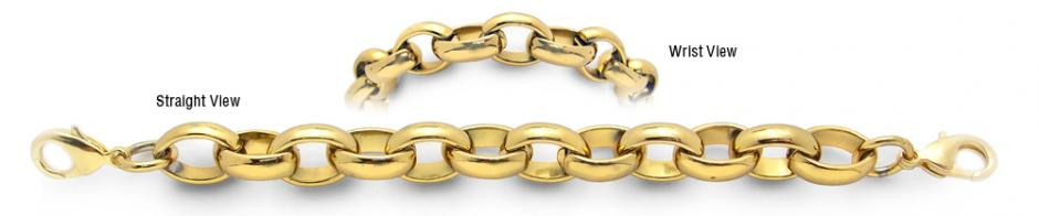 Designer Gold Over Stainless Medical Bracelets Città Dorate 1937