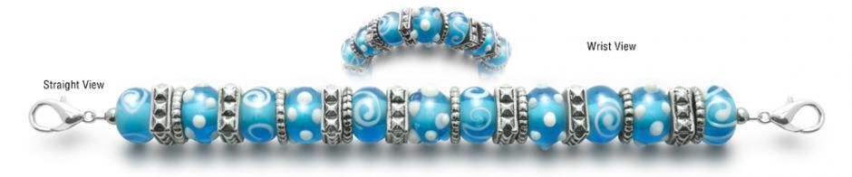 Designer Bead Medical ID Bracelets Chinka Blu 1938