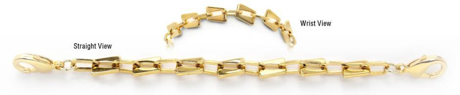 Designer Gold Over Stainless Medical Bracelets Piccole Dolomiti 1940