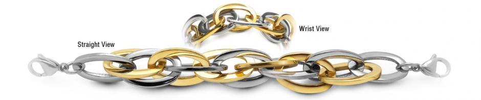 Designer Gold & Stainless Medical Bracelet Ovali Magici 1944