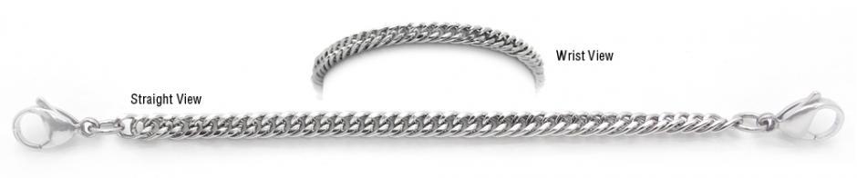Designer Stainless Medical ID Bracelets Simplice Eleganza 1951