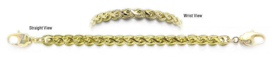 Designer Gold Medical Bracelets Bello Pizzo Oro 1956
