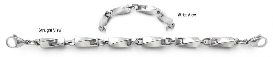 Designer Stainless Medical Bracelets Acciaio Torto 1959