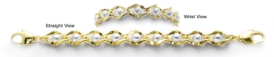 Designer Gold & Pearl Medical Bracelets Perle Nell' Oro 1960