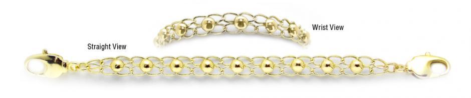 Designer Gold Medical Bracelets Cerchi de Oro 1963