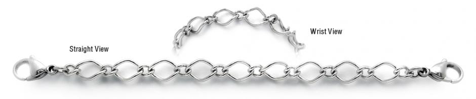 Designer Stainless Medical Bracelets Magnifico Merletto 1999