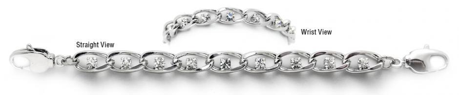 Designer Diamond Silver Medical Bracelets Belli Diamanti 1964