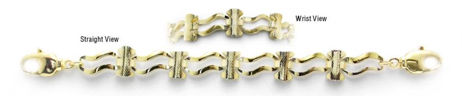 Designer Gold Medical Bracelets Verona Oro 1965