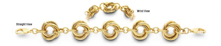 Designer Gold-Stainless Medical Bracelets Regione del Veneto 1973