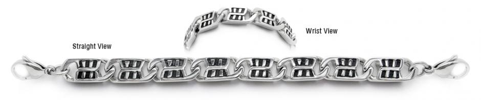 Designer Stainless Medical Bracelets Brezza della Finestra 1975