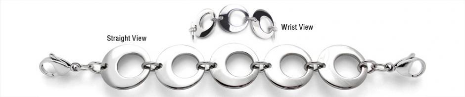 Designer Stainless Medical Bracelets Anelli della Luna 1980