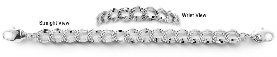 Designer Silver Medical Bracelets Luna D'Argento 1982