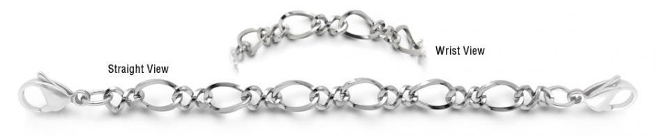 Designer Stainless Medical BraceletFiori di Luccichio 1996