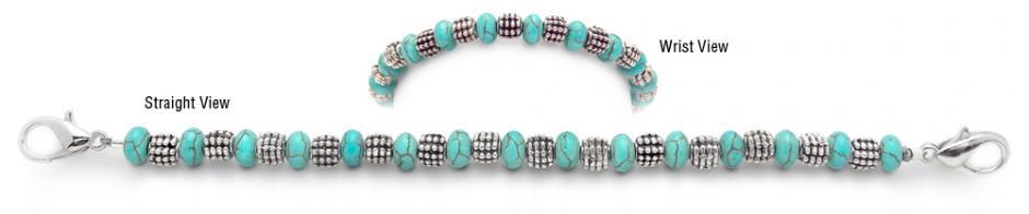 Designer Bead Medical Bracelets Robin Egg 1997