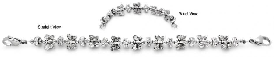 Medical ID Bracelet 2023 Boundless Butterfly, Medical ID Bracelets