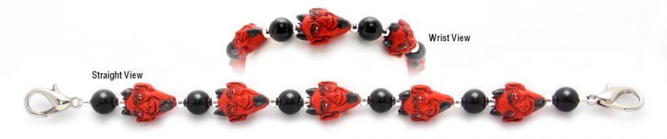 Hand painted ceramic medical bracelets Devilicious 2026