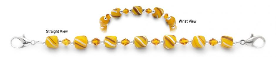 Designer Bead Medical Bracelets Ethiopian Golden Sun 2032