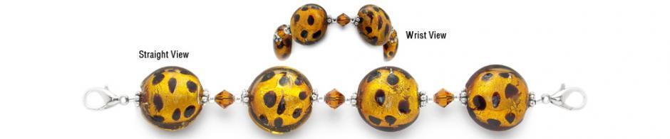 Designer Bead Medical Bracelets Cheetah in the Savannah 2037