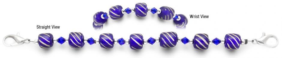 Designer Bead Medical Bracelets Ethiopian Blue Sky 2038