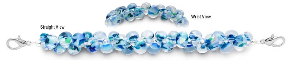 Designer Bead Medical Bracelets Blue Rapids 2049