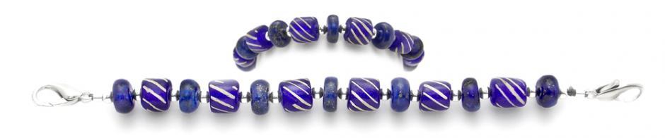 Designer Bead Medical Bracelets Blue Lazu 2077