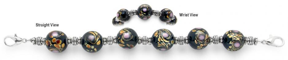Designer Bead Medical Bracelets Ruffled Feathers 2082